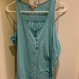 Blue Tank Top Forever 21 Medium